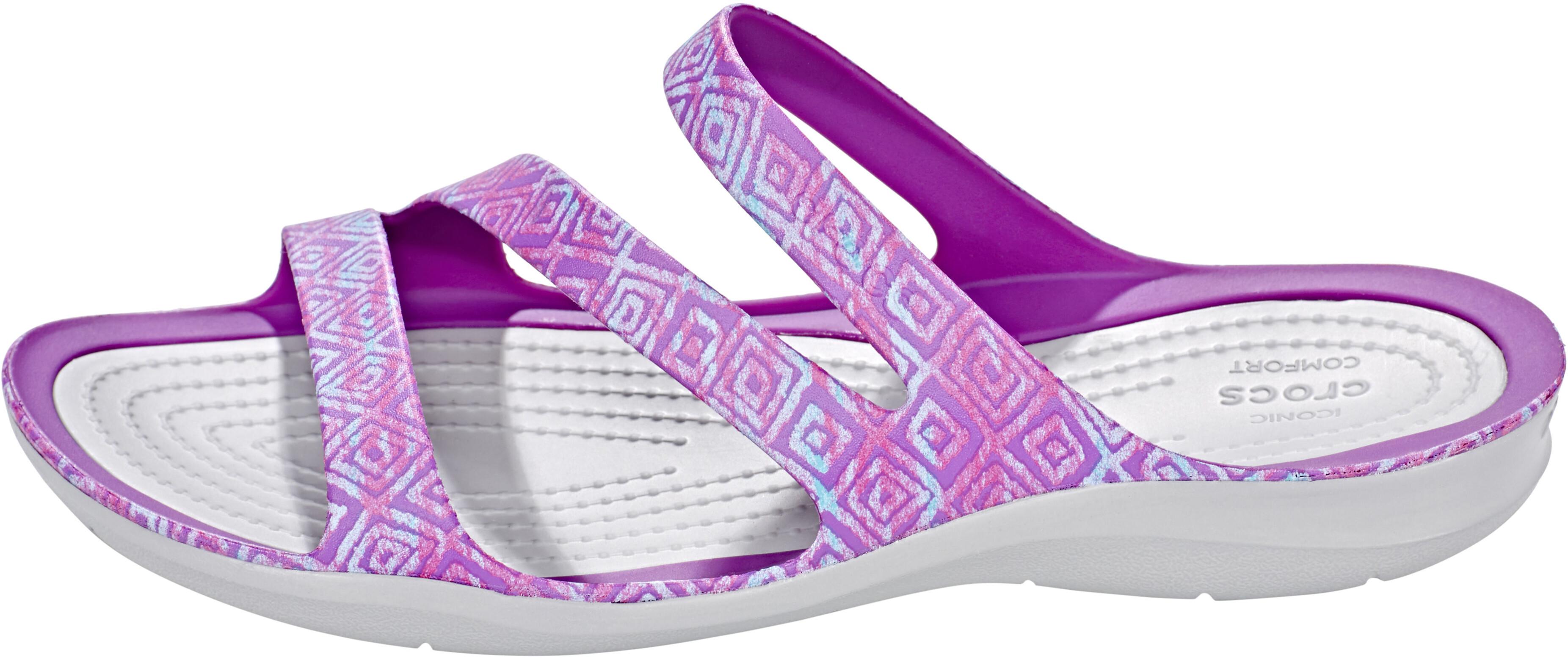 6cb28aa035c9 Crocs Swiftwater Graphic Sandals Women Amethyst Diamond Light Grey ...